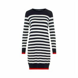 Striped Straight Long-Sleeved Dress