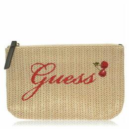 Guess Rafia Pouch Bag
