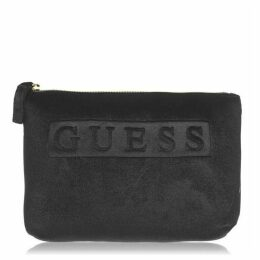 Guess Velvet Logo Pouch Bag