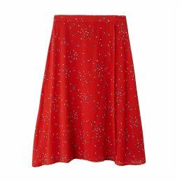 Floaty Floral Print Midi Skirt