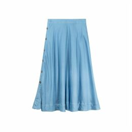 Side Buttoning Flared Skirt