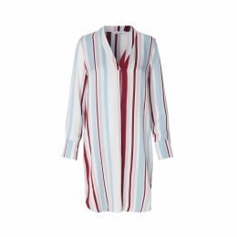 Hamill Long-Sleeved Multi-Coloured Striped Dress