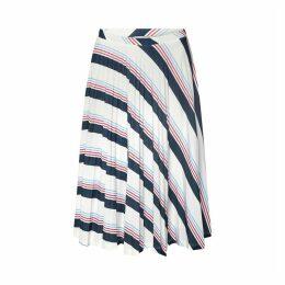 Striped Plissé Skirt