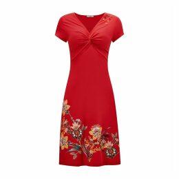 Knee-Length Shift Dress in Floral Print