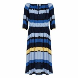 Floaty Striped Dress with 3/4 Length Sleeves