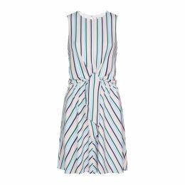 Sleeveless Tie Front Dress