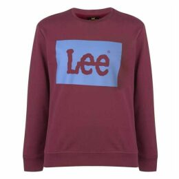 Lee Jeans Lee Square Flock Logo Sweatshirt Mens