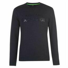 Armani Exchange Armani Rubber Logo Sweatshirt Mens