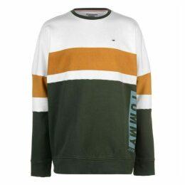 Tommy Jeans Boxy Block Crew Neck Sweatshirt