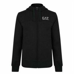 EA7 Large Logo Zip Hooded Sweatshirt