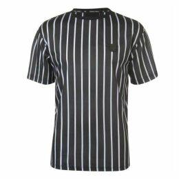 Criminal Damage Criminal Pinstripe T Shirt