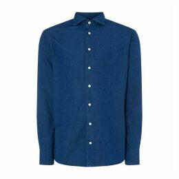 Eton Dark Blue Denim Slim Fit Shirt