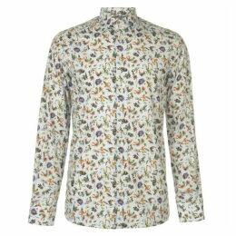 Eton Animal Floral Print Shirt Mens