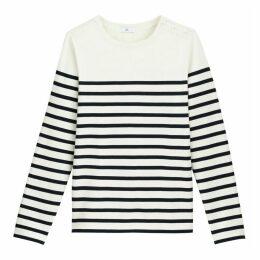 Organic Cotton Breton Stripe T-Shirt with Long Sleeves