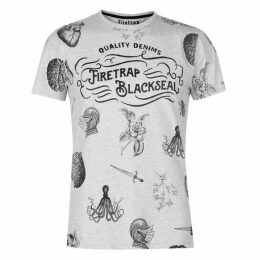 Firetrap Blackseal Printed T Shirt
