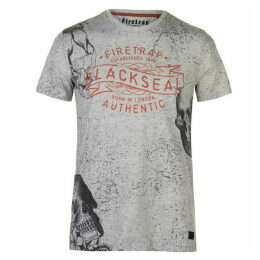 Firetrap Blackseal Floral T Shirt