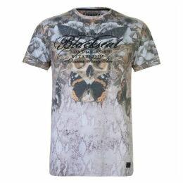 Firetrap Blackseal Moth Skull T Shirt
