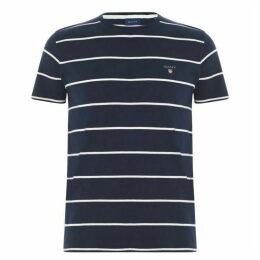 Gant Short Sleeve Striped T Shirt Mens