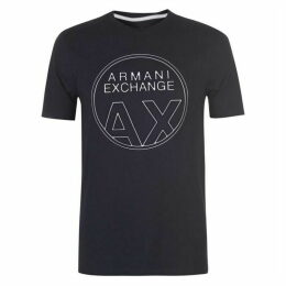 Armani Exchange Circle Logo T Shirt