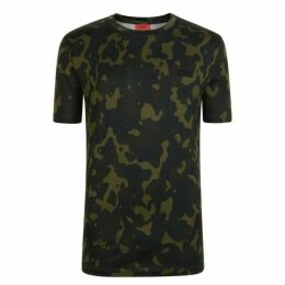 HUGO Durned Camouflage T Shirt