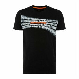 Armani Exchange AX Blurred Logo Tee Sn92