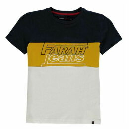 Farah Vintage Cut and Sew T Shirt