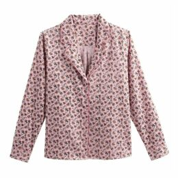 Floral Print Shirt with Tailored Collar