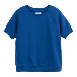 Cotton Short-Sleeved Crew Neck Sweatshirt