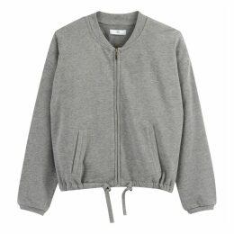 Zip-Up Crew Neck Sweatshirt