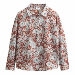 Floral Print Long-Sleeved Shirt