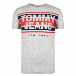 Tommy Jeans Cut Out Stripe Logo T Shirt