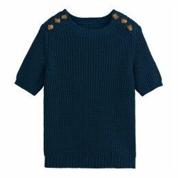 Chunky Knit Short-Sleeved Jumper