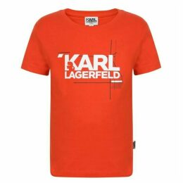 Karl Lagerfeld Skool Logo T Shirt