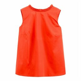 Cotton Ruffled Top with Open Back