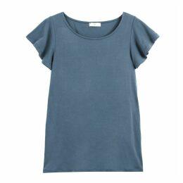 Ruffled Short-Sleeved T-Shirt