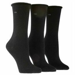 Calvin Klein Underwear Roll top 3 pair pack ankle socks