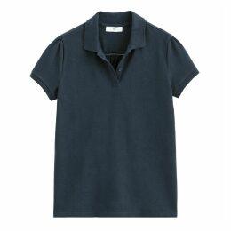 Cotton Short-Sleeved Polo Shirt