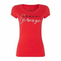 Armani Exchange AX Glit Logo Tee Ld92