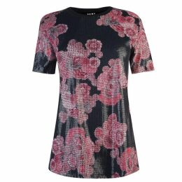 DKNY Print Sequin Top