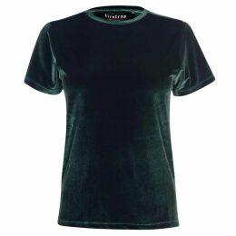 Firetrap Blackseal Velvet T Shirt