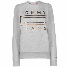 Tommy Jeans Tommy Metallic Logo Sweater Womens