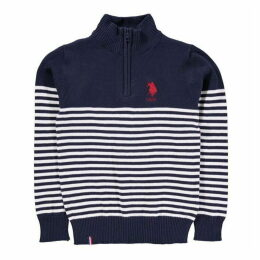 US Polo Assn Zip Knitted Sweater
