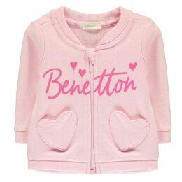Benetton Zip Heart Pocket Sweater