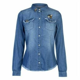 Only Rokit Embossed Denim Shirt