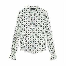 Star Print Shirt with Jewelled Buttons