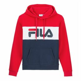 Lori Cotton Mix Colour Block Hoodie with Logo