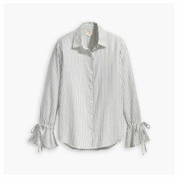 Striped Elsie Tie Sleeve Shirt