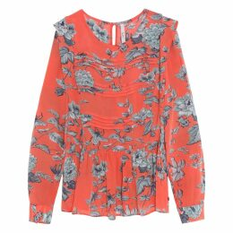 Loren Printed Blouse with Elasticated Waist