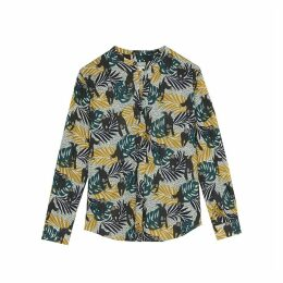 Printed Long-Sleeved Blouse