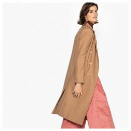 Wool MixTailored Double-Breasted Duster Coat